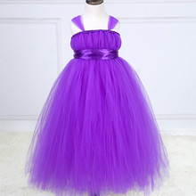 Fashion Summer Dress Romantic Purple Girl Party Evening Dresses Sweet Princess Kids Tutu Dress ropa de ninas(China)