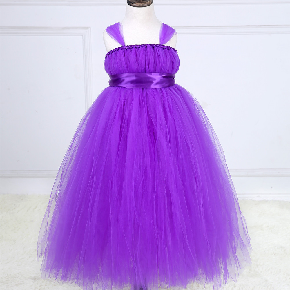 Fashion Summer Dress Romantic Purple Girl Party Evening Dresses Sweet Princess Kids Tutu Dress ropa de ninas<br>