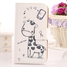 Exyuan Leather PU Case For Fly IQ4413 EVO Chic 3 Quad Moblie Phone Cover Book Design Wallet Pouch With Card Slot