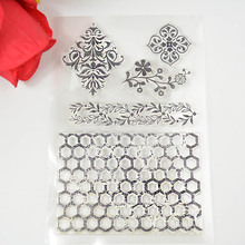 Flower banner Fence design clear Transparent Stamp DIY Scrapbooking/Card Making/Christmas Decoration Supplies