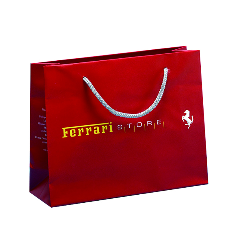Laminated Paper Bags paper shopping bags with rope handles