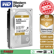 Western Digital WD Gold 6TB hdd sata 3.5 disco duro interno internal hard disk harddisk hard drive disque dur desktop hdd server