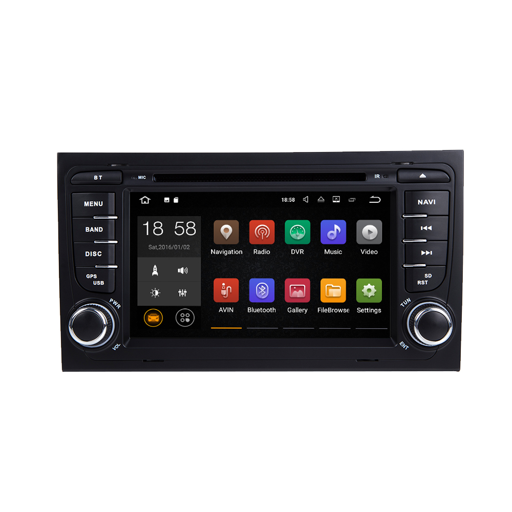 For 7″ android 5.1 car stereo multimedia for Audi A4 with Canbus MP3 DVD BT Mirror link radio