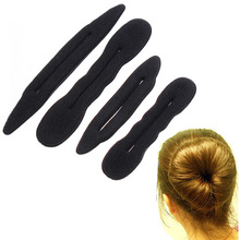 4Pcs Bun Maker Twist Curler Tool Hair Styling Tools DIY Magic Sponge Hair Band Elastic  Accessories