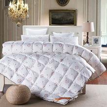 Papa&Mima simple solid linens duck/goose down winter comforter quilting duvet 100% cotton blankets Twin/Queen/King size quilt(China)