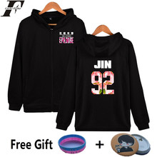 LUCKYFRIDAYF BTS Kpop Women Hoodies Sweatshirt Zipper Bangtan Boys Coat Hip Hop Hoodies Women Sweatshirt Female Fams Clothes