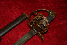 Collectable WWII Germany Samurai  Katana/ DAO/sword,engraving,with mark,Lionhead