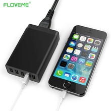FLOVEME 5V 8A 5 Ports USB Charger Travel Wall Charger Adapter Portable AU EU UK US Plug Mobile Phone Charger for iPhone Tablet(China)