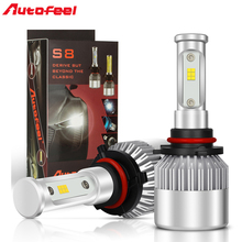Autofeel Led H4 H7 H1 Car Headlight Bulb Color Changeable Led Light 9005 9006 9004 9007 H13 H11 with Yellow Filter 168w 16000LM(China)