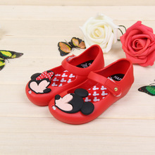Special Offer Girl's rubber PVC shoes Crystal soft sandals Toddler shoes cartoon Children Baby Girl's Shoes KD2-7Y