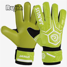 Proessional Soccer Goalkeeper Gloves thickened finger guard goalie soccer football gloves pulgar finger LATEX palm