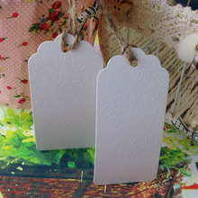 Accept Custom Big Size 4.5x9.5cm Blank Hang Tag For Note Gift Box Tag 50pcs/lot For Wedding SwingTag Garment Tag Logo Cost Extra
