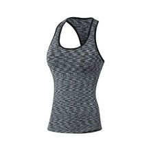 Women Fitness Sports Yoga Tops Quick Dry Vest Workout Cami Stretch T Shirt Tops Ladies Vest No Rims Tank Tops