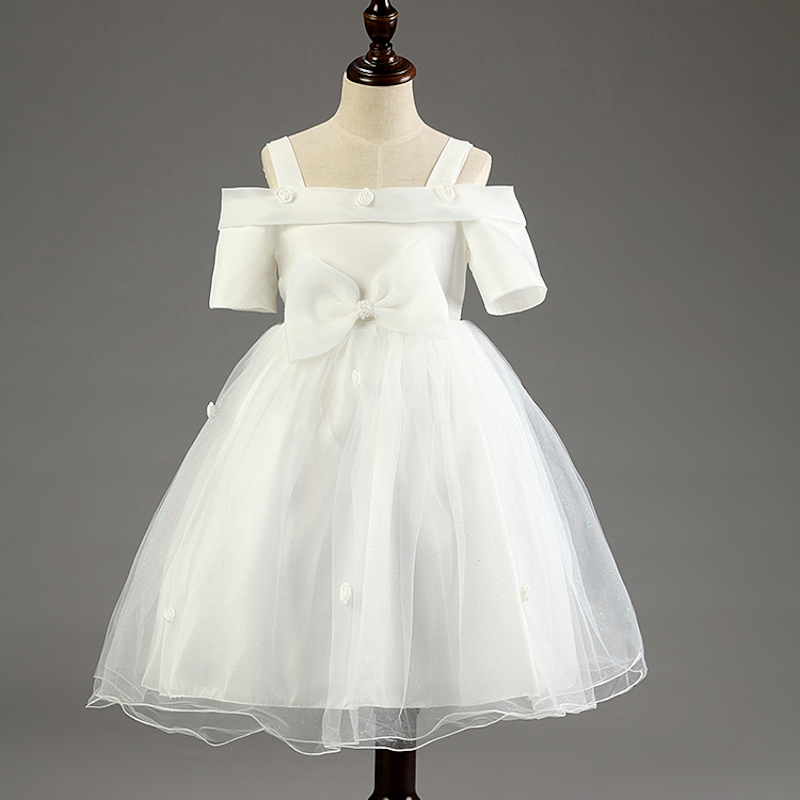 Flower Girl Dresses Wedding Easter Junior Bridesmaid White Curl Princess Girl Dress<br><br>Aliexpress