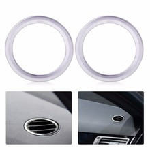 2pcs/lot New ABS Chrome Plated Interior AC Air Vent Outlet Trim Cover Ring for Benz B Class W246 B180 B200 2012 2013 2014 2015