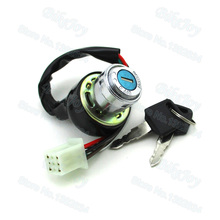 6 Pin Wire On Lock Off  Ignition Key Switch For Kazuma Meerkat 50 50cc ATV Quad