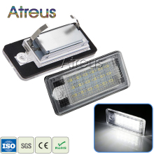 Atreus Car-styling 2Pcs LED Number License Plate Lights 12V For Audi A4 b6 8E A3 S3 A6 c6 Q7 A4 b7 A8 S8 S6 RS4 RS6 accessories