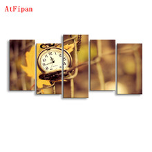 AtFipan Wall Pictures For Living Room Unframed Modular Paintings On The Wall Perfect Print Clocks Canvas Prints Artwork Posters(China)