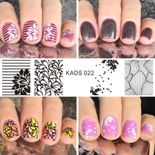 Manicure Nail Art Stamp Template Sunflower & Dandelion Design Image Nail Art Stamp Plates Nail Stencils