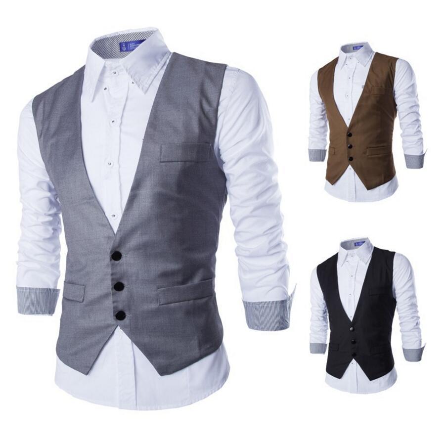 Men Suits Vests Gilet New Arrival Men Vest Slim Fit Fashion Male Waistcoat custom Custom size and color Business Male Clothing
