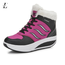 Height Increasing Women Winter Sports Shoes Brand Breathable Walking Sneakers Plush Inside Warm Snow High Top Platform Running