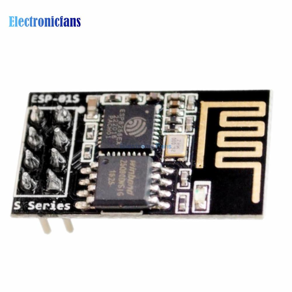 Free Shipping! ESP-01S ESP8266 Serial Wifi Module (ESP8266 ESP-01 ESP 01 Updated) Wireless Transceiver Board 3.0-3.6V LWIP AP(China (Mainland))