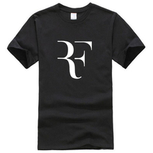 Fashion Roger Federer RF Print T Shirt Men Short Sleeve Tshirts Tops Hip Hop T shirt homme Man cotton casual T shirts(China)