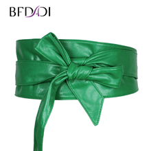 2016 New arrival fashion Lady bowknot belt bind wide belt ,four Colors free shipping