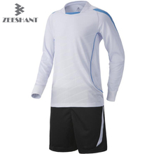 ZEESHANT 2017 New Kids Goalkeeper Kits Sponge Protector Suit Men Goal Keeper Jersey Uniforms Long-Sleeve  Set
