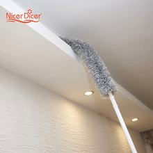 179CM Magic Telescoping Anti Static Soft Microfiber Cleaning Duster Brush Dust Cleaner Handle Natural Feather