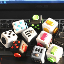 Mini Fidget Cube Vent Toy Anti Stress EDC Keychain Squeeze Fun Stress Reliever  Click Glide Flip Spin Breathe Roll  11 Colours