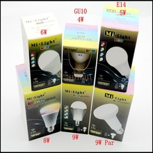 Original Mi Light Dimmable 110V 220V CW/WW RGBW RGBWW RGB CCT E27 E14 GU10 4W 5W 6W 8W 9W Smart LED Bulb Lamp Lighting