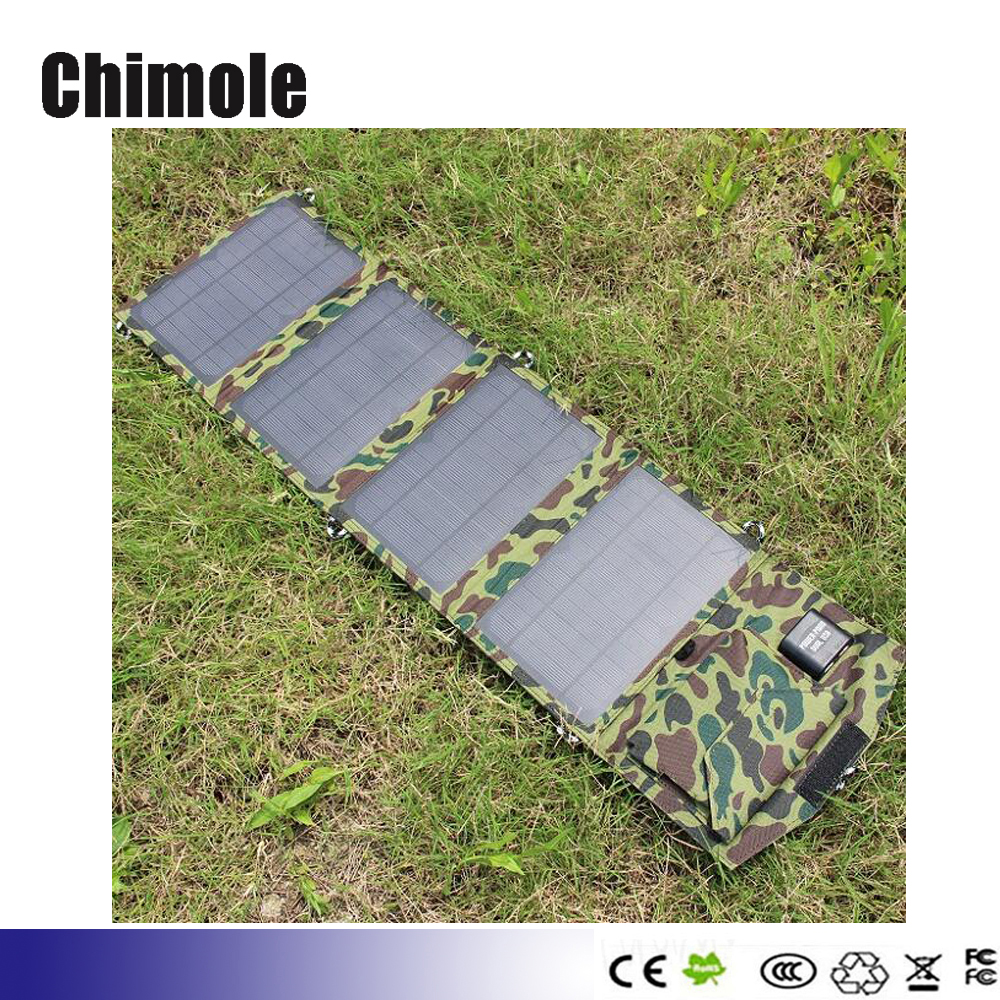 5pcs 5V 14W portable folding solar panel charger mobile phone charging treasure Universal outdoor mobile power solar charger<br><br>Aliexpress