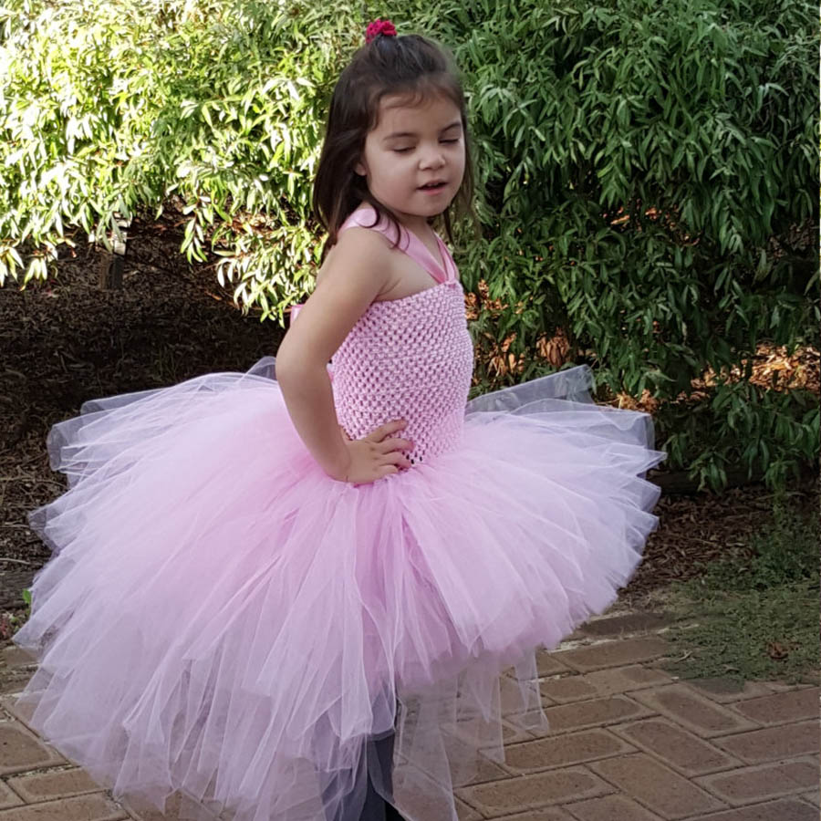 Gorgeous Light Pink Girls Tutu Dress for Photo Shoot Birthday Party Wedding Kids Dress up Costume Pink Fancy Ball Gown (6)