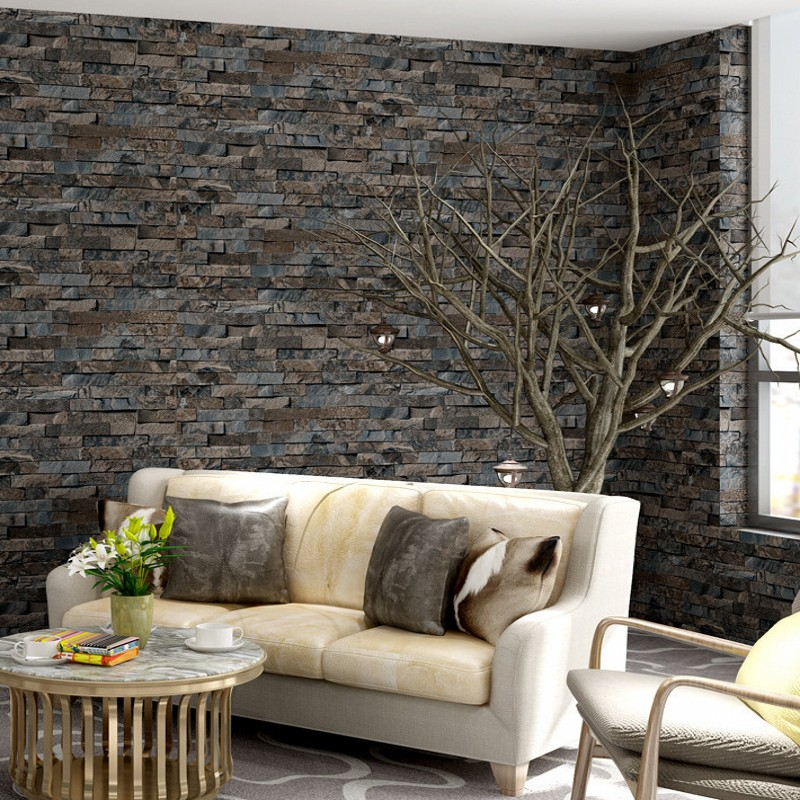 Free Shipping Retro Nostalgic Bricks wallpaper Clothing store restaurant bedroom background decoration wallpaper<br>
