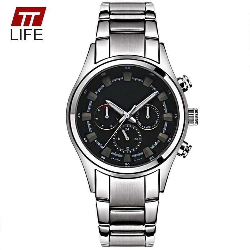 Mens Watches TTLIFE Mens Stainless Steel Dress Sport Watch Men Fashion Quartz Analog Wrist Watches Mens Luxury Military Watches<br><br>Aliexpress