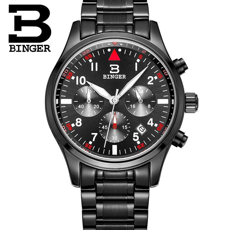 Relogio Masculino BINGER Luxury Brand Analog Sports Wristwatch Display Date Clock Mens Quartz Watch Business Men Watch B9202<br>