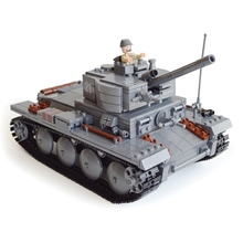 82009 KAZI Century Military Blocks German Light Tank PzKpfw II Ausf L Luchs Building Block Armored Vehicle Model Toys Kids Gift