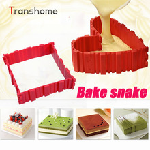 Magic Bake Snake Silicone Cake Mold Baking Tools Diy Heart Shape Multi-shape Imagination Cake Mold Kitchen Accessories(China)
