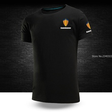 New summer KOENIGSEGG T-shirt men and women work short sleeve T shirt