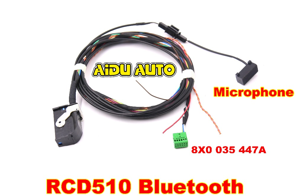 VW Bluetooth Wiring Harness cable cables For RNS510 RCD510 TIGUAN GOLF MK6 Jetta MK5 Passat B6 rcd510 bluetooth chinese goods catalog chinaprices net Bluetooth Speaker Wiring Diagram at edmiracle.co