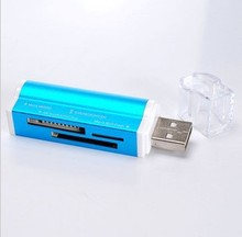 best sale Aluminum  All in one USB 2.0 Multi Memory Card Reader for Micro SD/TF M2 MMC SDHC MS Memory Stick Hot Worldwide