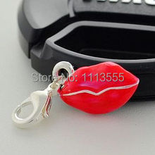 C773  Mixed Silver Thomas  Pendant Charms .Red Lip  Charms Fits Thomas Bracelets In Cheap Price 20pcs/lot