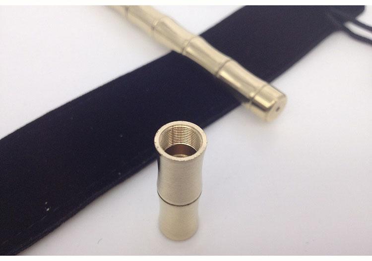 CCGK Bamboo Shape Brass Tactical Pen Useful EDC Tool Women Outdoor Portable Self Defense Tools Detachable Functional Write Pen (6)