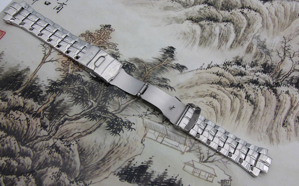 Stainless Steel Watchband Replacement for Casio EF 554 Men Watch Band Wrist Strap Bracelet <br>