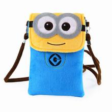 2017 Women New Small Yellow  Cartoon Patterns Mobile Phone Bag! Plush Material Walllt!Women Messenger Bag!Free Shipping!#40