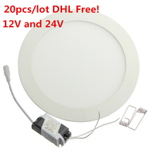 20pcs 12V/24V LED Panel light 3W/6W/9W/12W/15W/25W LED Panel Light Warm White/Cold White 2835 SMD LED Downlight Panel Lighting