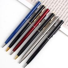 Wholesale slim twist metal ballpoint pen for hotel gift pen can silk print or laser engraving your LOGO of hotel favor(China)