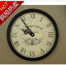 Fashion clock modern fashion brief wrought iron wall clock mute clock