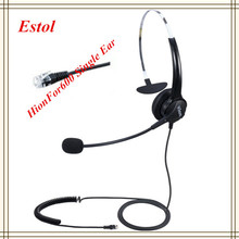 HD voice Hion For600 RJ9 Crystal professional Single ear call center headset telephone earphone,VoIP Phone headphone training(China)